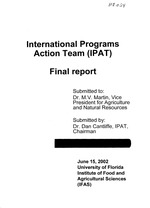 International Programs Action Team (IPAT) Final Report