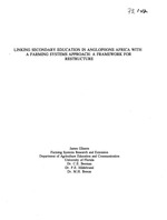 Linking secondary education in anglophone Africa with a farming systems approach: a framework for restructure