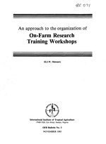 An approach to the organization of on-farm research training workshops