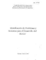 Identificación de problemas y acciones para el desarrollo del sector
