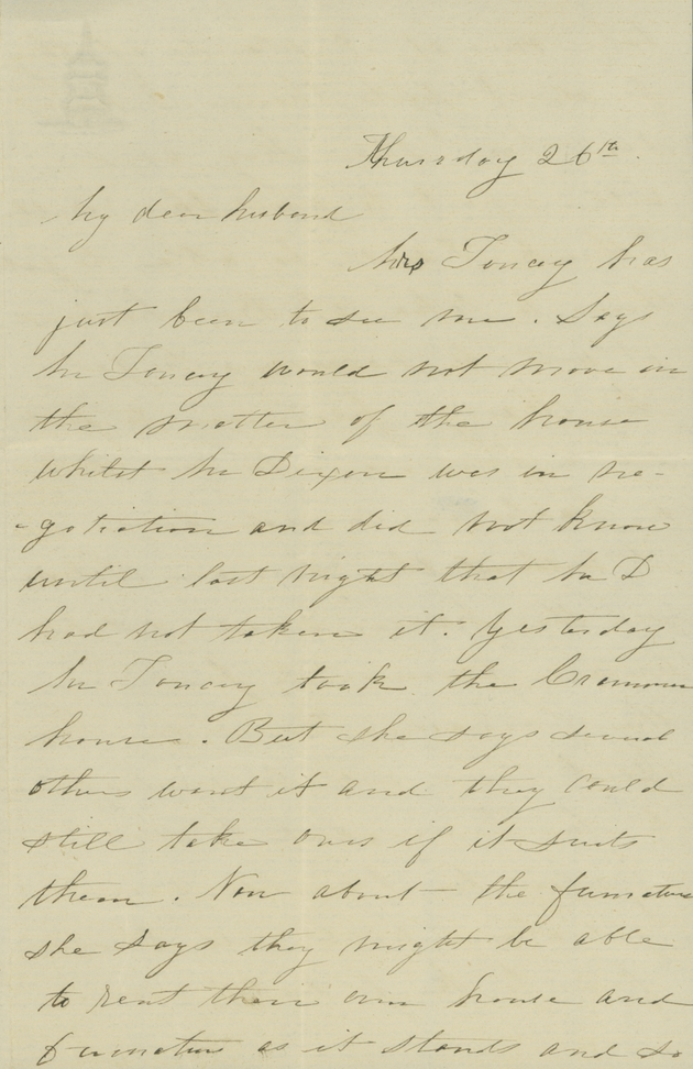 From Nannie Yulee to David Yulee, Washington, 26 May 1857. - Page 1