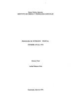 Programa de nutricion vegetal: informe anual