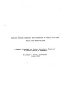Farming systems research and extension at CATIE 1975-1985. Notes and observations