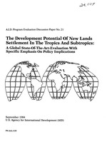 development potential of new lands settlement in the tropics and subtropics