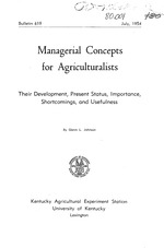 Managerial concepts for agriculturalists