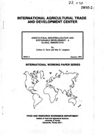 Agricultural industrialization and sustainable development