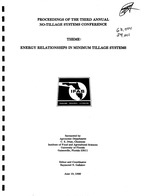 Proceedings of the Third Annual No-Tillage Systems Conference