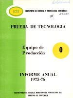 """Informe anual: equipo de produccion """"O"""""""