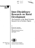 Inter-disciplinary research on rural development