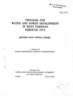 Program for water and power development in West Pakistan through 1975