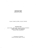Evaluation report CATIE small farm production systems