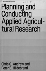 Planning and conducting applied agricultural research