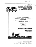 A farming systems research bibliography of Kansas State University's vertical file materials