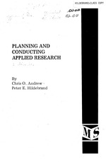 Planning and conducting applied research