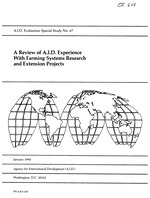 A review of A.I.D. experience with farming systems research and extension projects