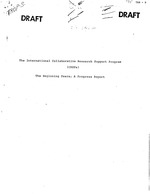 International Collaborative Research Support Program (CRSPs): the beginning years; a progress report (draft)