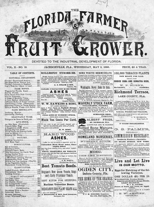 Florida farmer & fruit grower - Page 1
