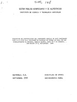 Evaluacion de aceptabilidad del componente semilla de maiz variedades ICTA A-4 e ICTA B-5, validadas en parcelas de prueba de 1984, en los parcelamientos El Rosario, Caballo Blanco, Santa Fe y El Rosario, Sub-region IV-3, Retalhuleu.  1985