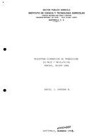 Registros economicos de produccion en maiz y maiz-frijol: Monjas, Jalapa, 1981