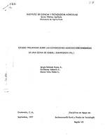 Estudio preliminar sobre las condiciones agrosocioeconomicas de una zona de Izabal (sub-region VII1)