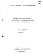 Sistemas de cultivos de ladera para pequenos y medianos agricultores, La Barranca, Jutiapa, 1975