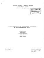 Estudio preliminar sobre las condiciones agro-socioeconomicas del Parcelamiento Montufar, Jutiapa