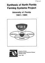 Synt hesis of North Florida Farming Systems Project, University of Florida, 1981-1984