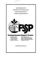 Some problems in the implementation of agricultural research projects with a farming systems perspective