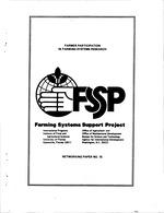 Farmer participation in farming systems research
