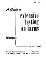 A guide to extensive testing on farms