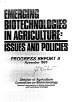 Emerging biotechnologies in agriculture, issues and policies