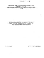 Generalidades sobre el cultivo de papa y los efectos causados por polilla en tres áreas de Quetzaltenango