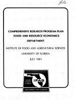 Comprehensive research program plan, Food and Resource Economics Department