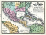 Map of Mexico, Central America, and the West Indies