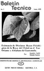 Existencia de distintas razas fisiológicas de la roya de frijol en sur oriente y altiplano de Guatemala