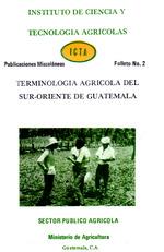Terminología agrícola del sur-oriente de Guatemala