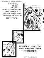 Proyecto de Generación y Transferencia de Tecnología Agropecuaria y Producción de Semillas, PROGETTAPS