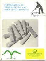 Fertilización de variadades de maíz para Chimaltenango