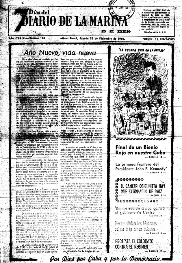 7 días del Diario de la marina en el exilio - Page 1