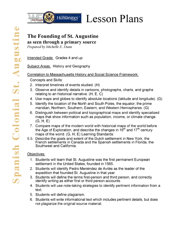 The founding of St. Augustine as seen through a primary source - Page 1