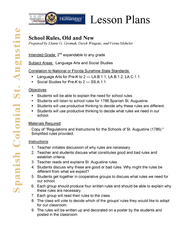 School Rules, Old and New - Main 1