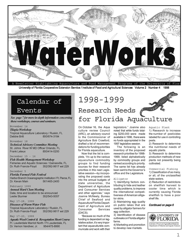 Waterworks. Volume 2, Number 4. 1998. - Page 1