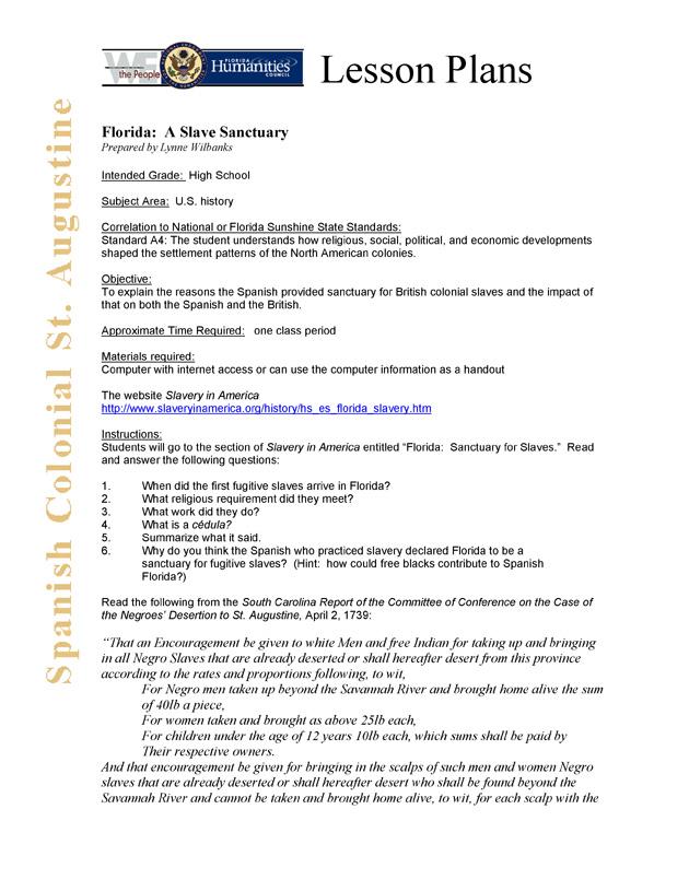 Florida: A Slave Sanctuary - Page 1