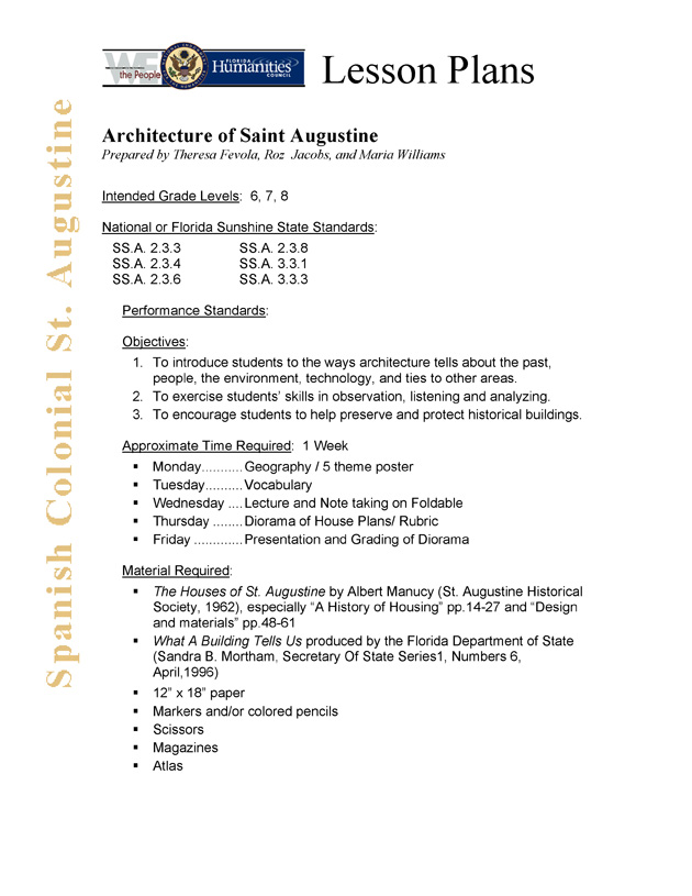 Architecture of Saint Augustine - Page 1