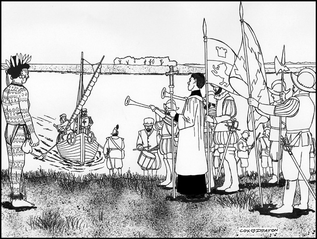 Menéndez comes ashore at the newly founded site of St. Augustine - Image 1