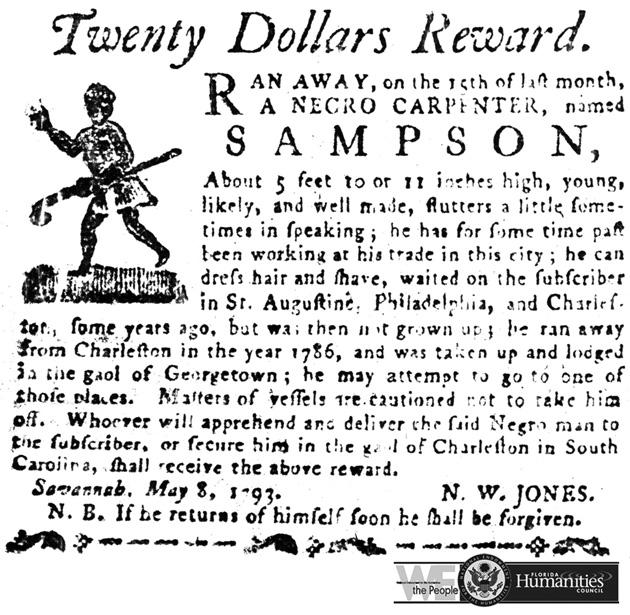 Runaway Slave notice