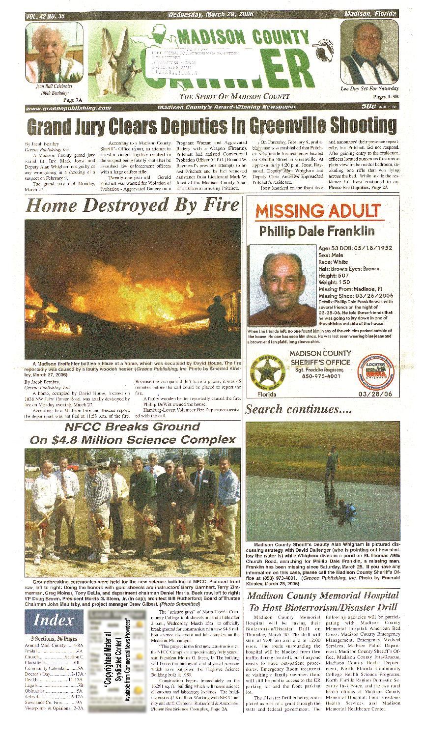 Madison County carrier - page A 1