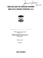 Abbreviated economic analysis of the small farmer development project (520-T-0233)