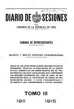 Diario de sesiones del Congreso de la Républica de Cuba