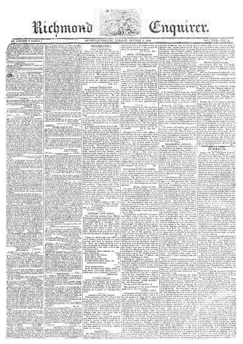 Richmond enquirer - page 1